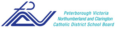 Catholic School board logo. A stylized P incorporates the cross.